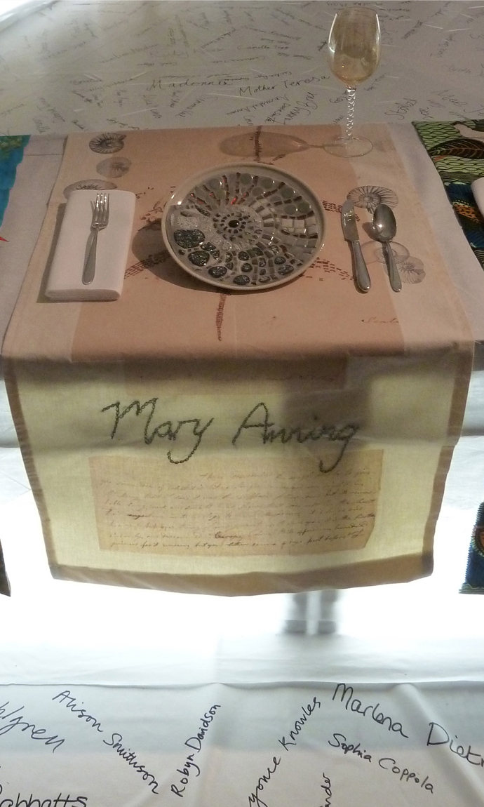 Mary Anning table setting